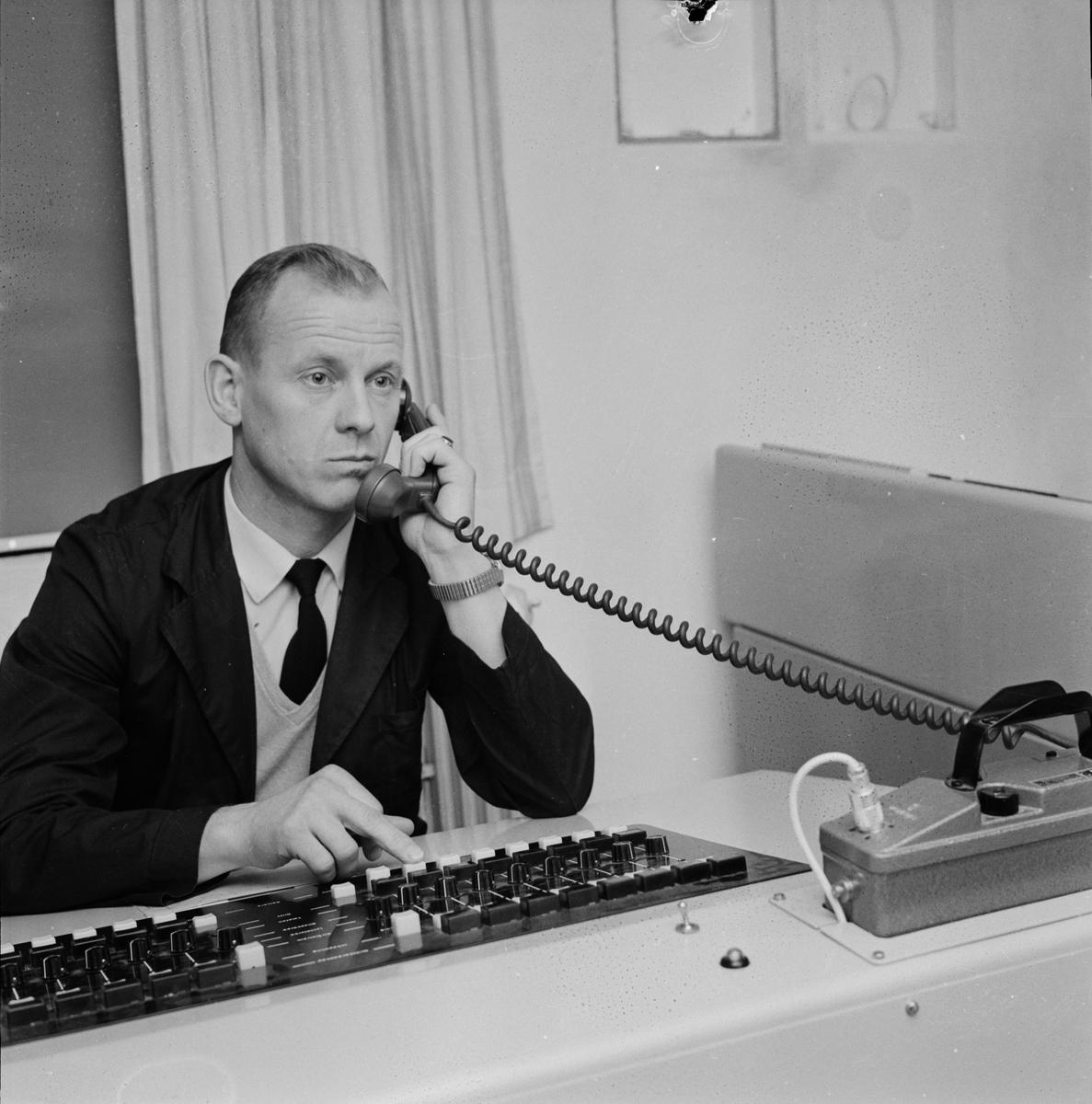 """Norrtäljefängelset - """"TV bevakning"""", Uppland 1959"""