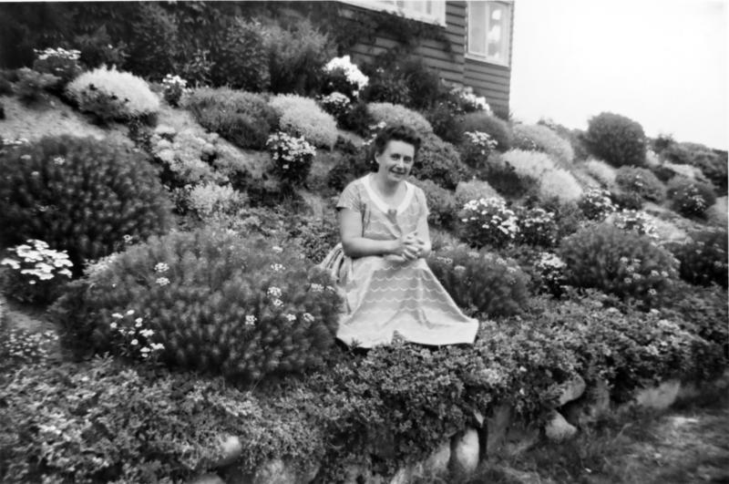 Hagens opprinnelige eier Greta Bjørklund (1950-tallet). (Foto/Photo)