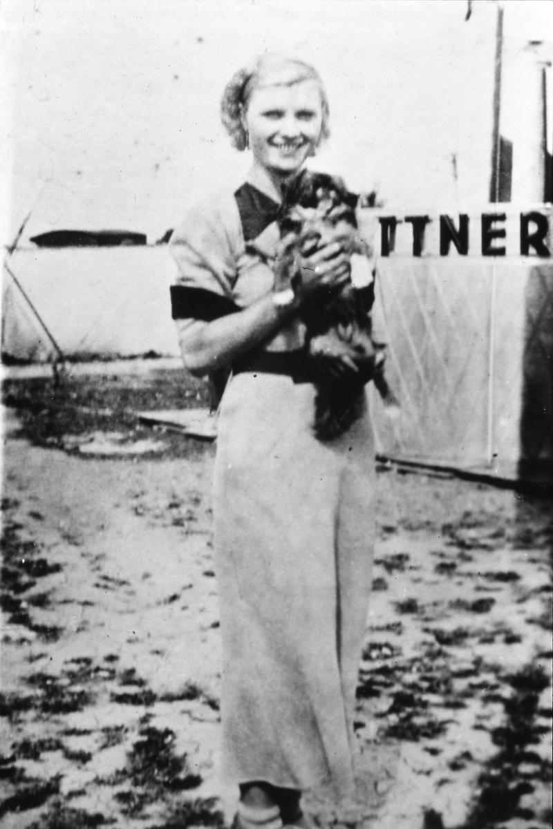 Anita Kittner, känd hopptornsartist, uppträder på Arbogautställningen