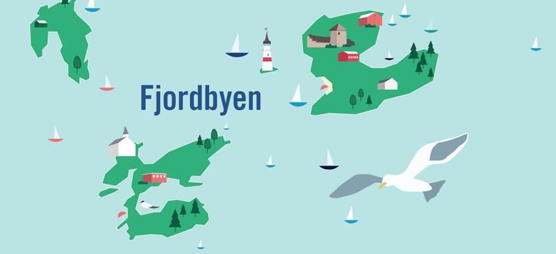 Fjordbyen illustrasjon (Foto/Photo)