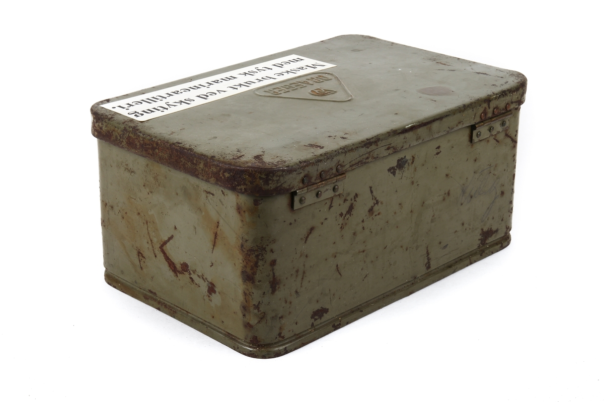 Kasse til gassmaske