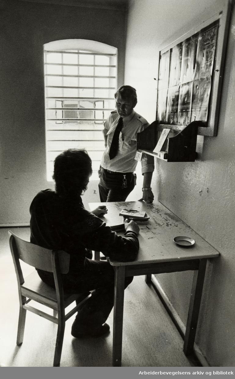 Kretsfengselet, Botsfengselet. Fengselcelle. April 1979