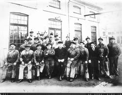 Arbetsgrupp vid Gävle Varv 1937.