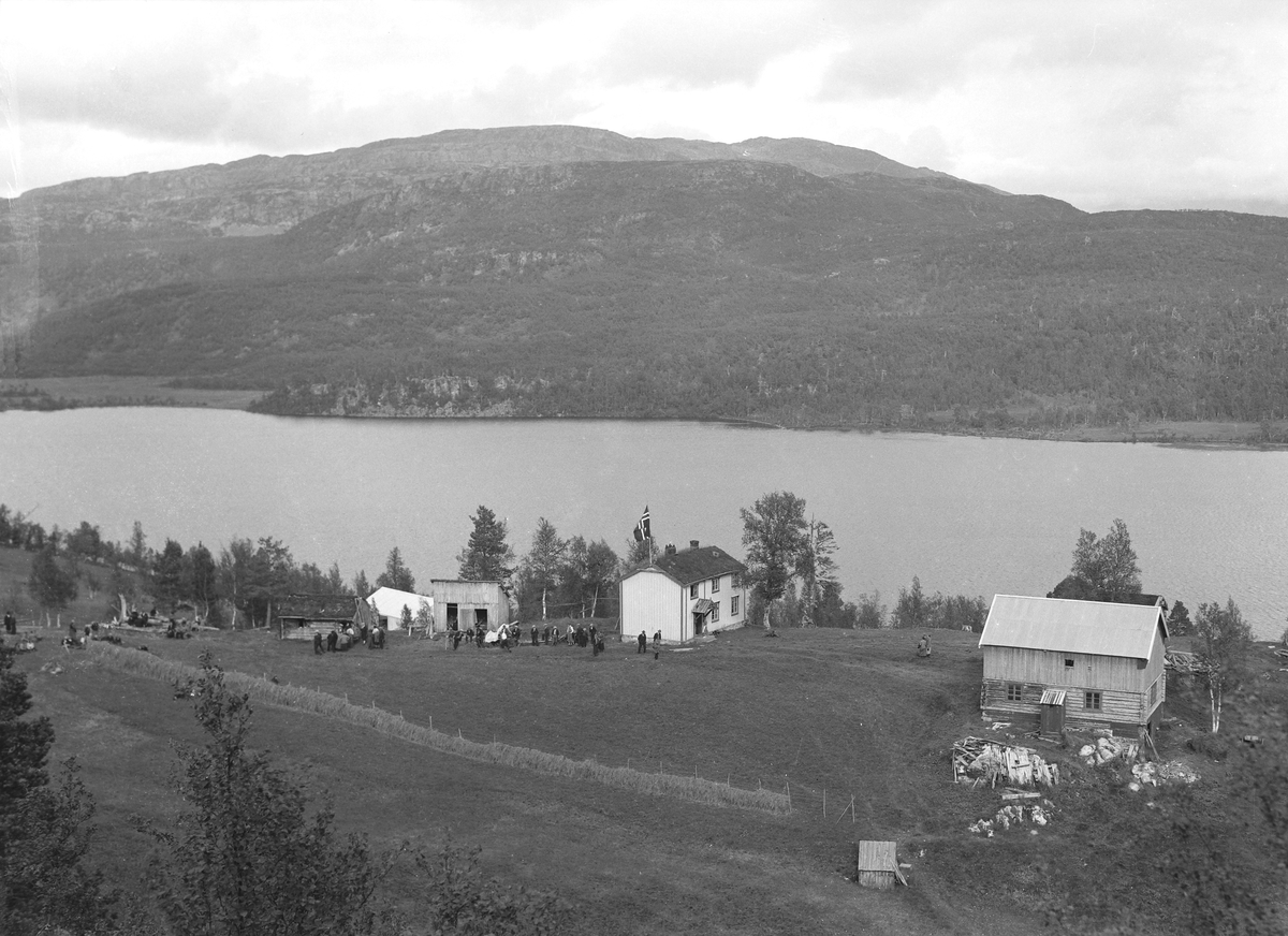 Vasslåtta ved Resvatnet under finnemisjonsstevnet i 1934.