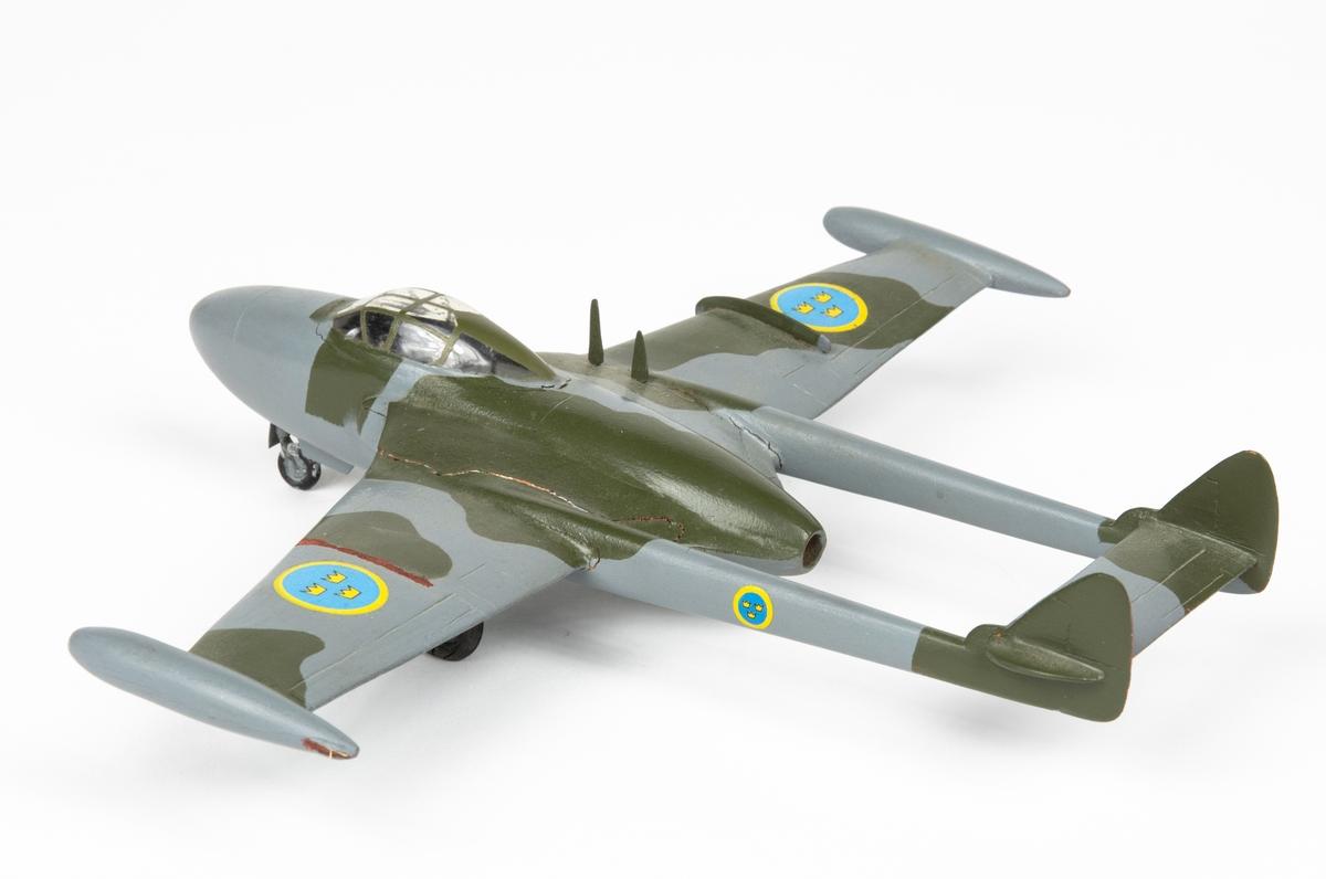 Flygplansmodell  J 33 DH 112 Venom.