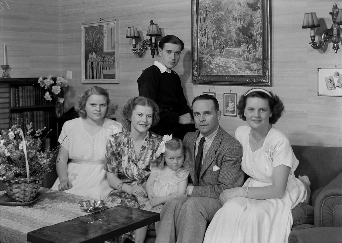 Fredrik Dessen med familie