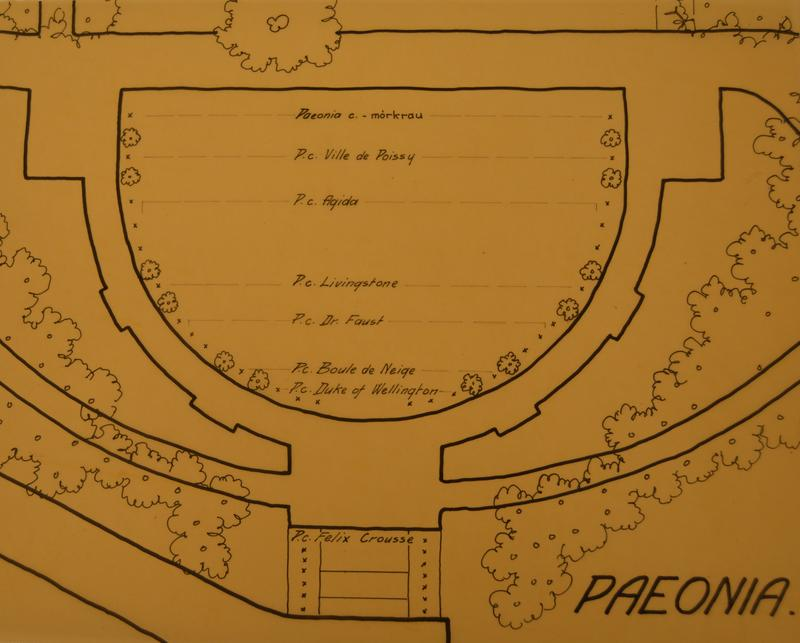 Beplantningsplanen fra 1930. Foto: MiA.