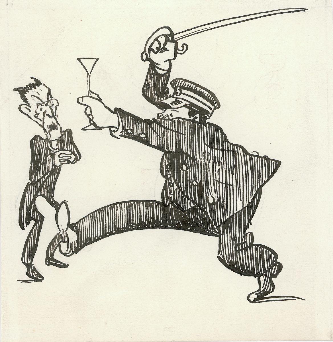 karikatur, forbudstiden