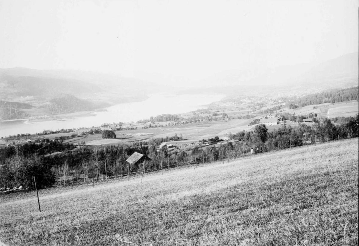 Repro: Lillehammer sett fra jordet på Høstmælingen gård, Søre Ål