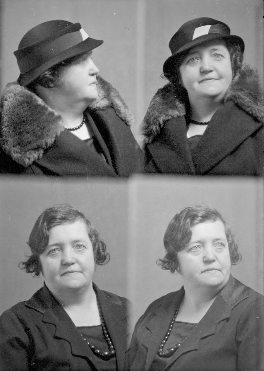 Portrett. Kvinne. Bestilt av Fru Capt. Bleivik