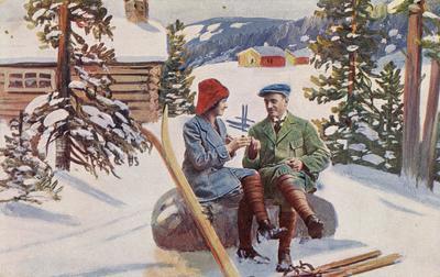 Gammelt julekort. Foto/Photo