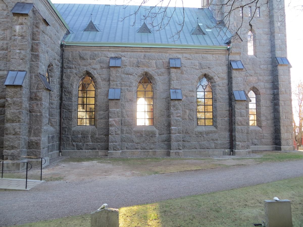 Exteriör, Vallsjö nya kyrka i Sävsjö kommun.