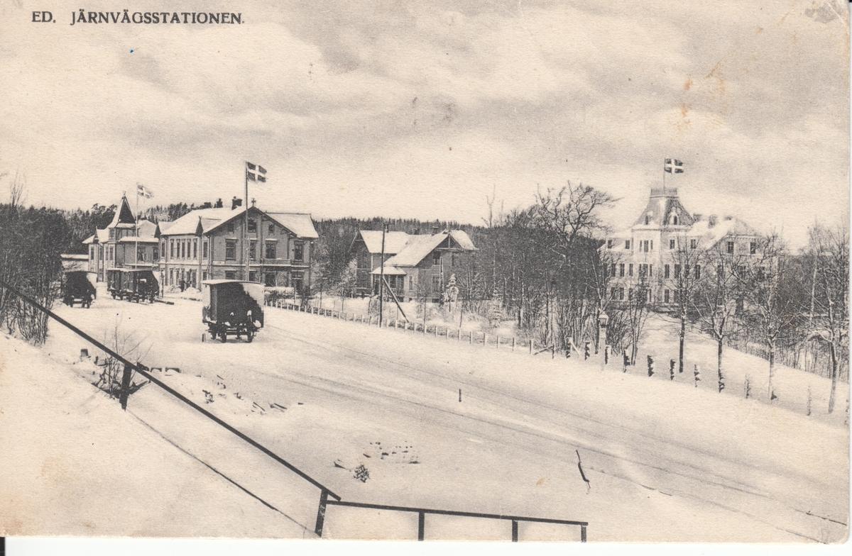"""Dalsland. """"Ed. Järnvägsstationen"""""""