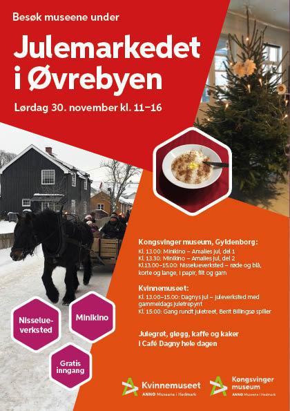 Plakat, Julemarked i Øvrebyen 2019
