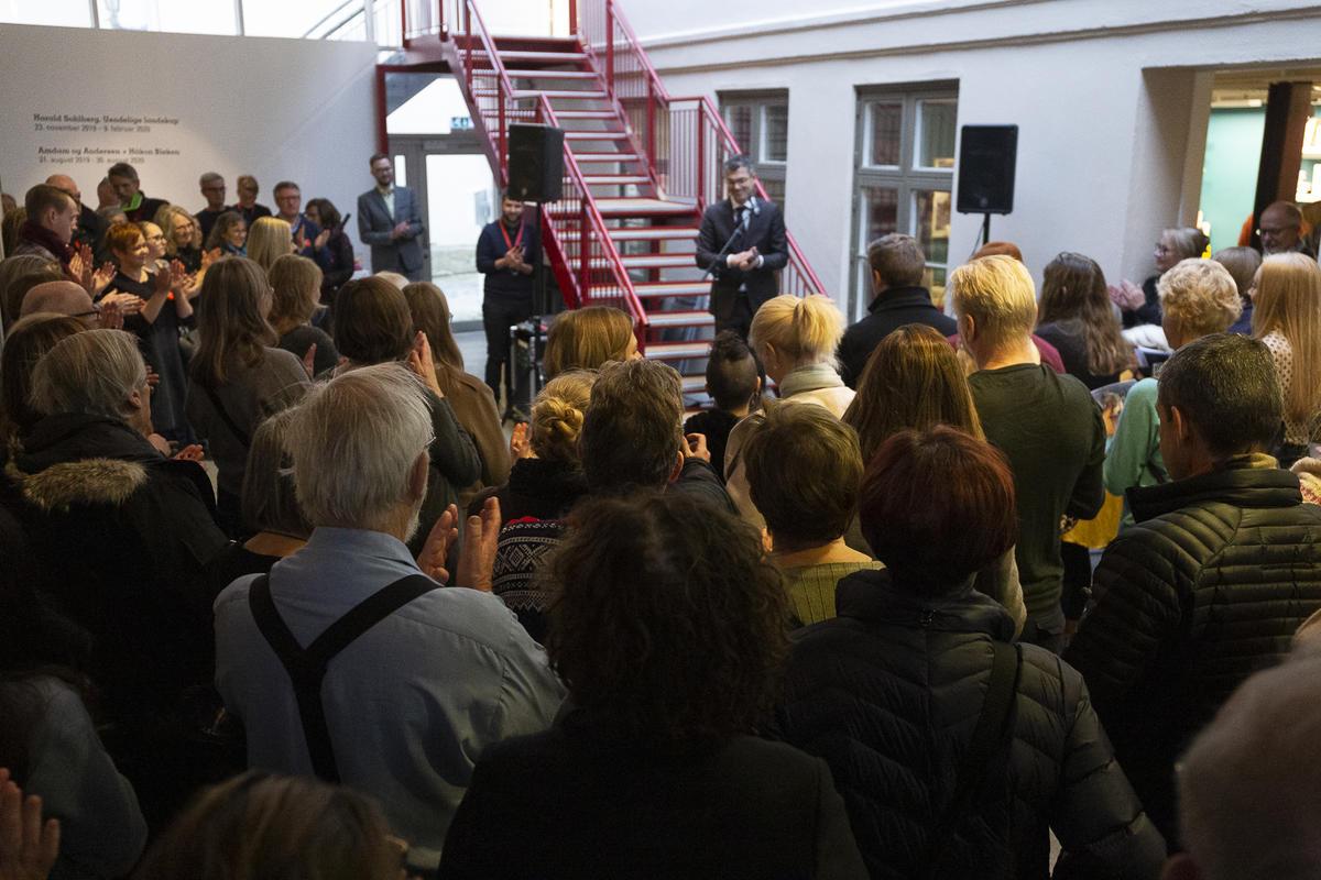Bilder fra åpningen av Harald Sohlberg. Uendelige landskap. På TKM Gråmølna. Foto: TKM / Nadia Caroline Andersen. (Foto/Photo)