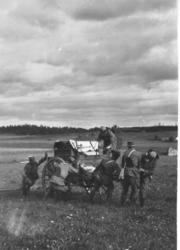 Järvafältet 1921-1922 Serg Ring längst till vänster.