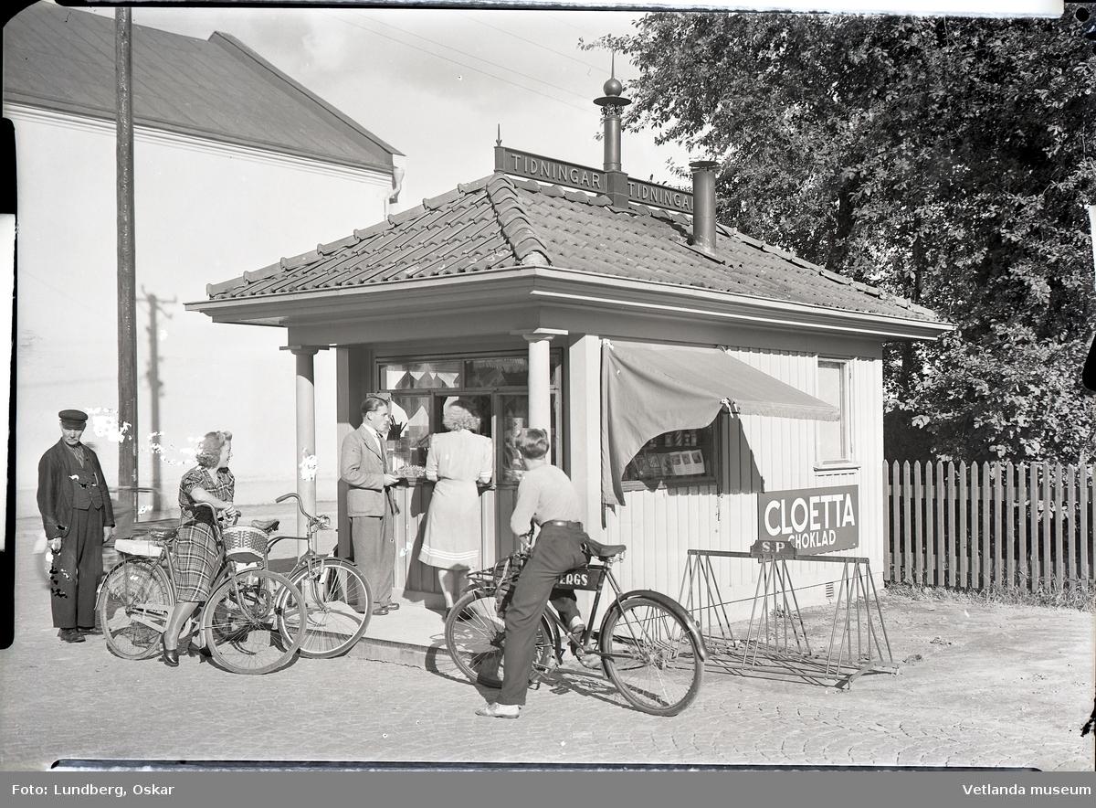 Kiosken vid järnvägsstationen i Vetlanda.