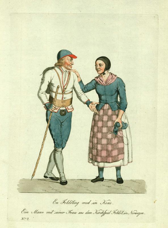 Kobberstikk etter akvarell av J.F.L. Dreyer. Ca. 1800.