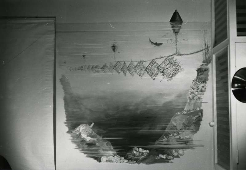 Veggmaleri av østersoppdrett