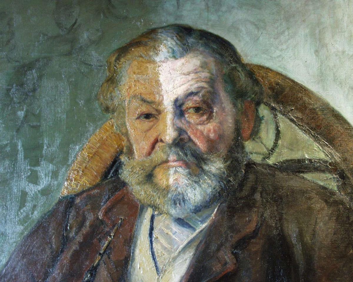 """Portrett av Gudbrand Larsen, """"Pipe-Larsen""""."""