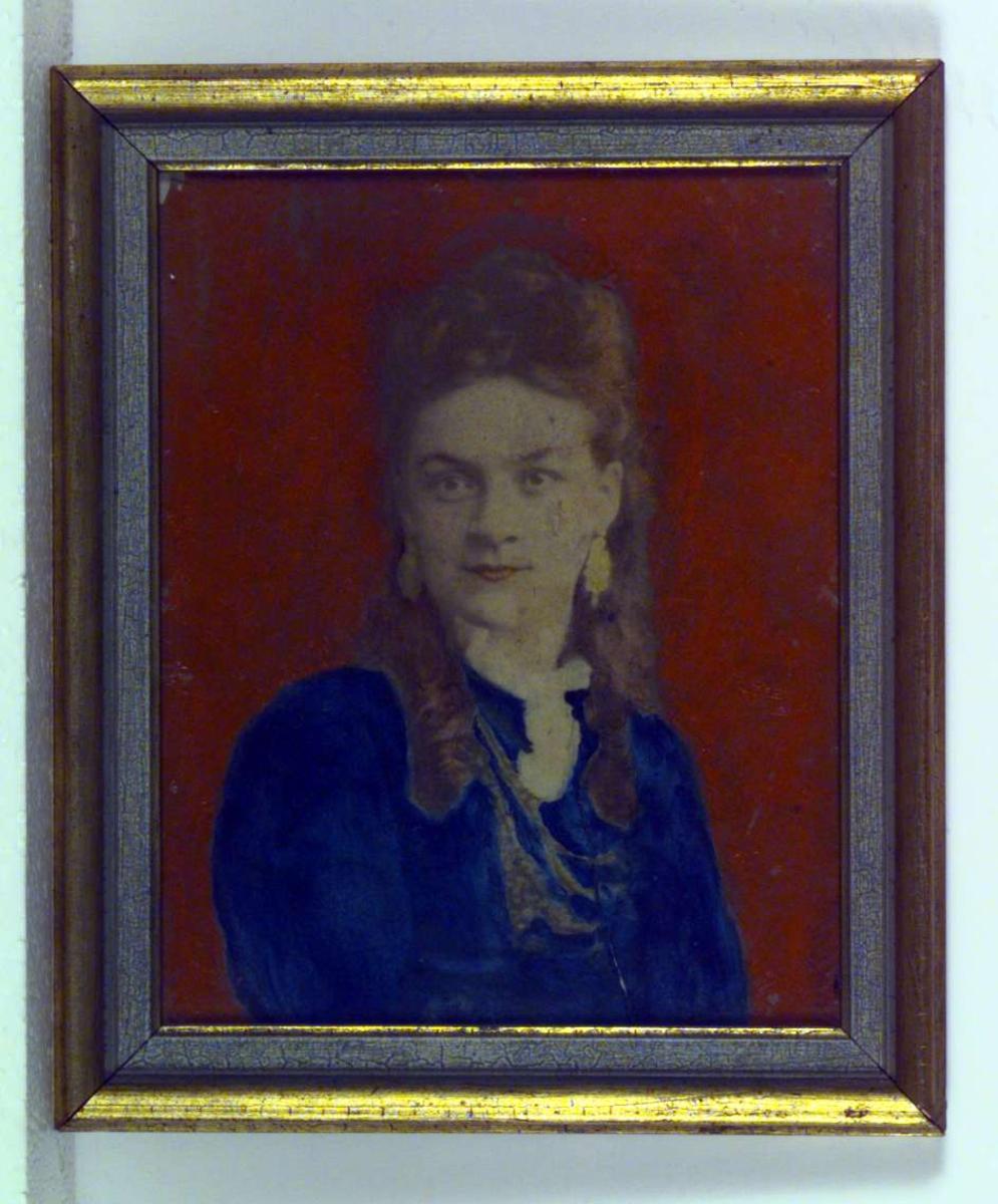 Portrett av en ung kvinne, Kirsten Petrine (Petra) Neeraas (1853-1875).