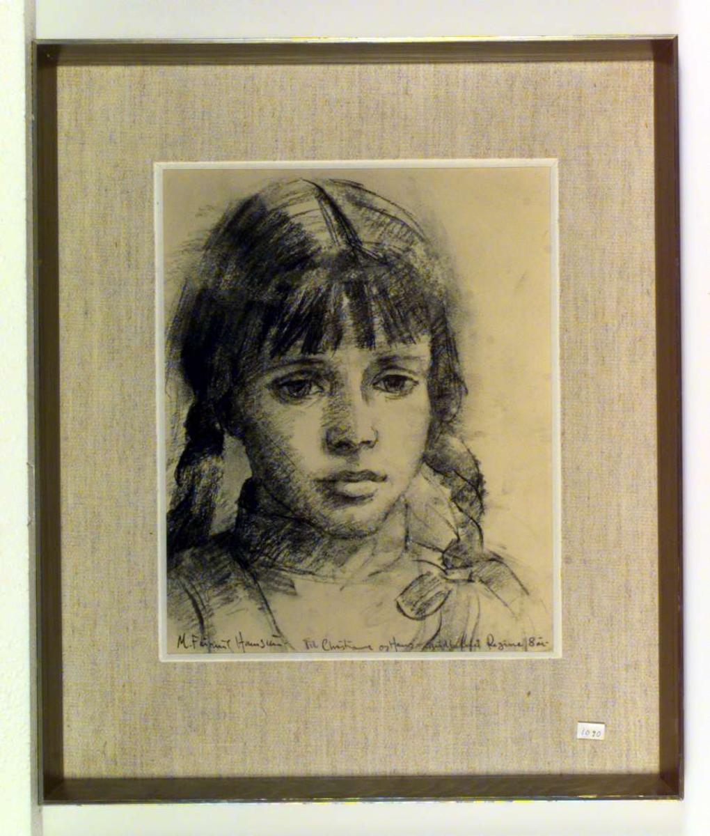 Portrett av Regine Hamsun, 8 år gammel.