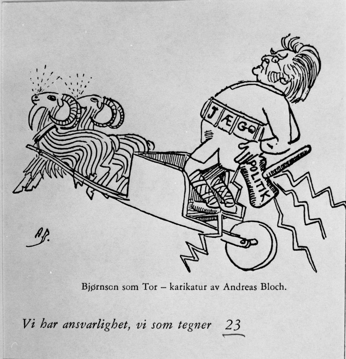 Karikatur, Bjørnson, Tor,