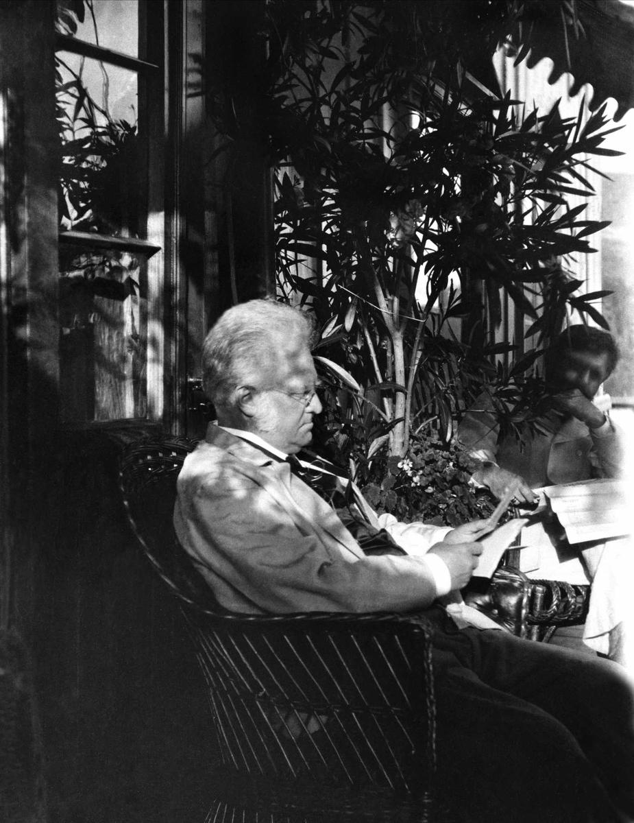 Bjørnson, Krøyer, brev, avis, veranda,