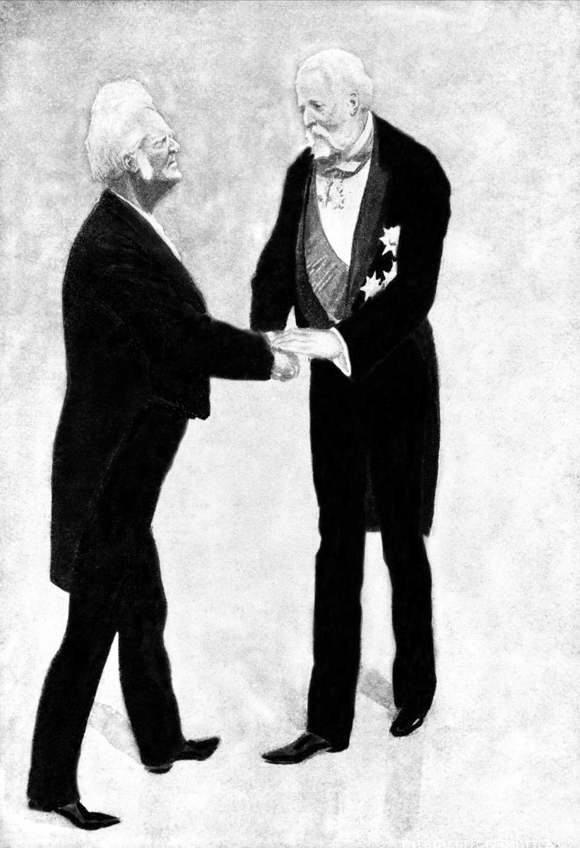Bjørnson, Kong Oscar II, Nobelpris 1903, tegning,