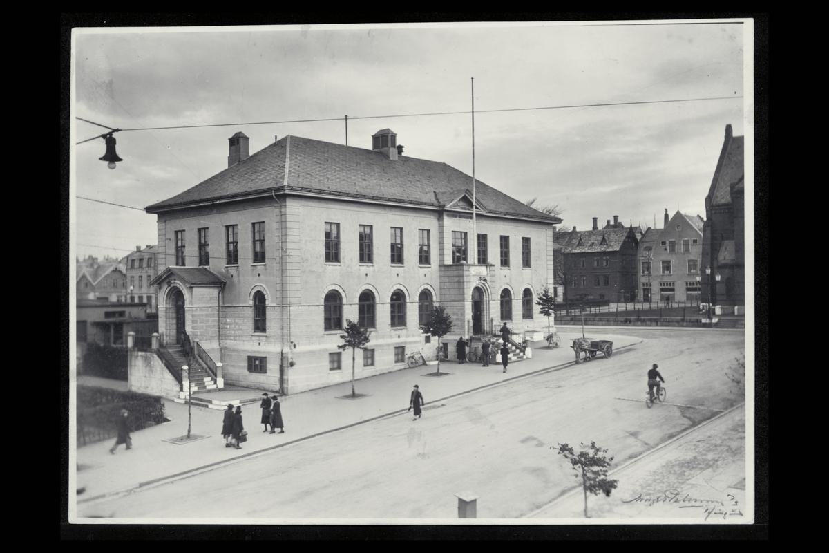 eksteriør, postkontor, 5500  Haugesund, hest, vogn