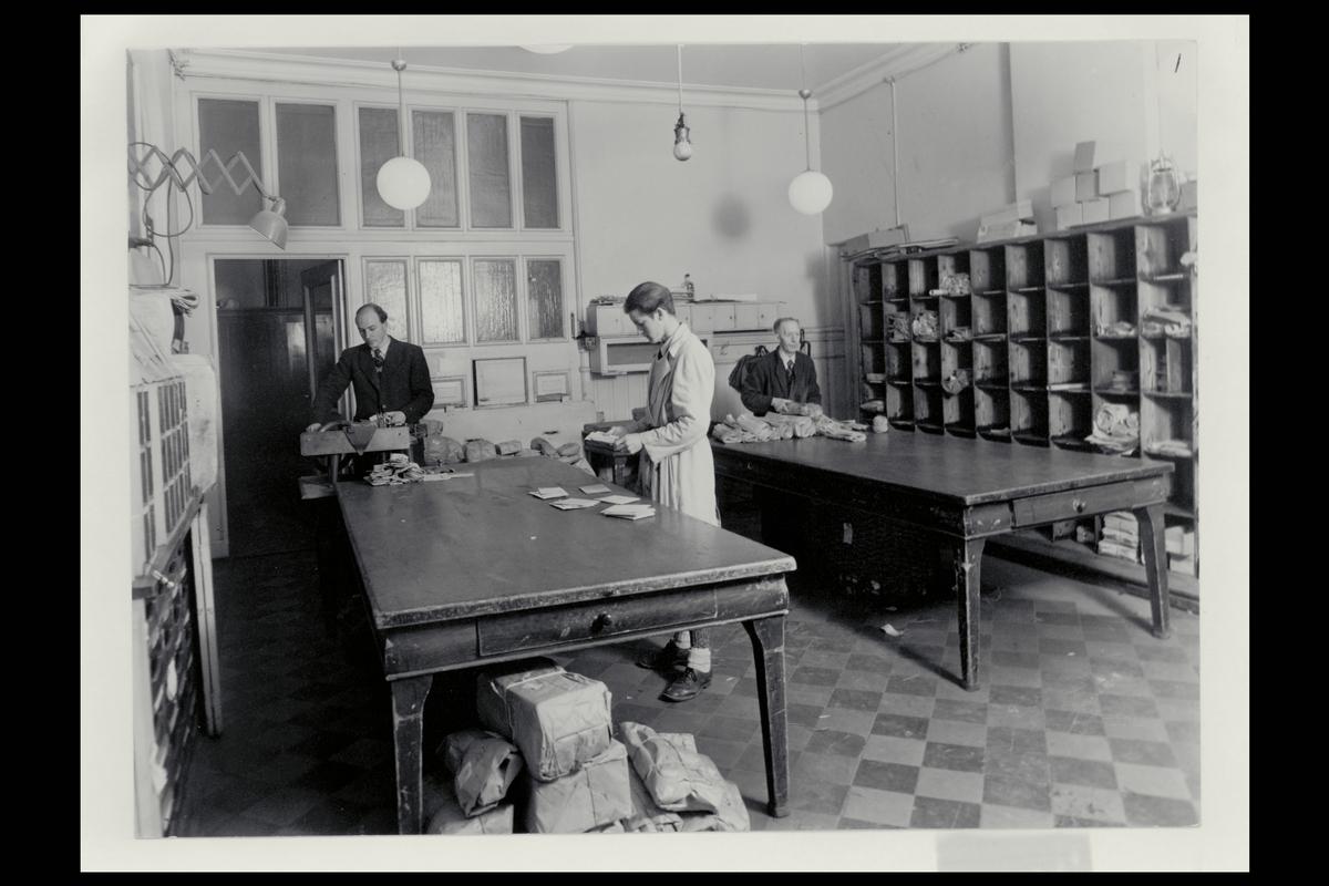 interiør, postkontor, 3700 Skien, sortering, pakker, brev