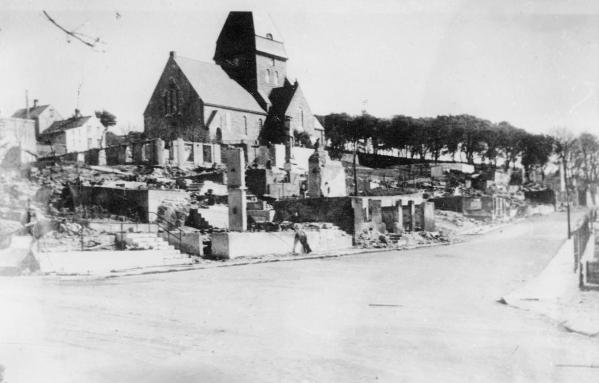 krigen, Kristiansund N, eksteriør, ruiner