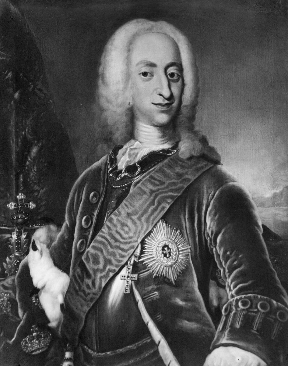 portrett, mann, kong Kristian 6.