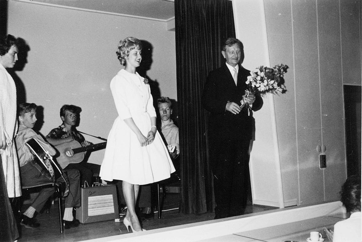 postskolen, assistentkurs, Oslo, eksamensfest, juni 1960, interiør