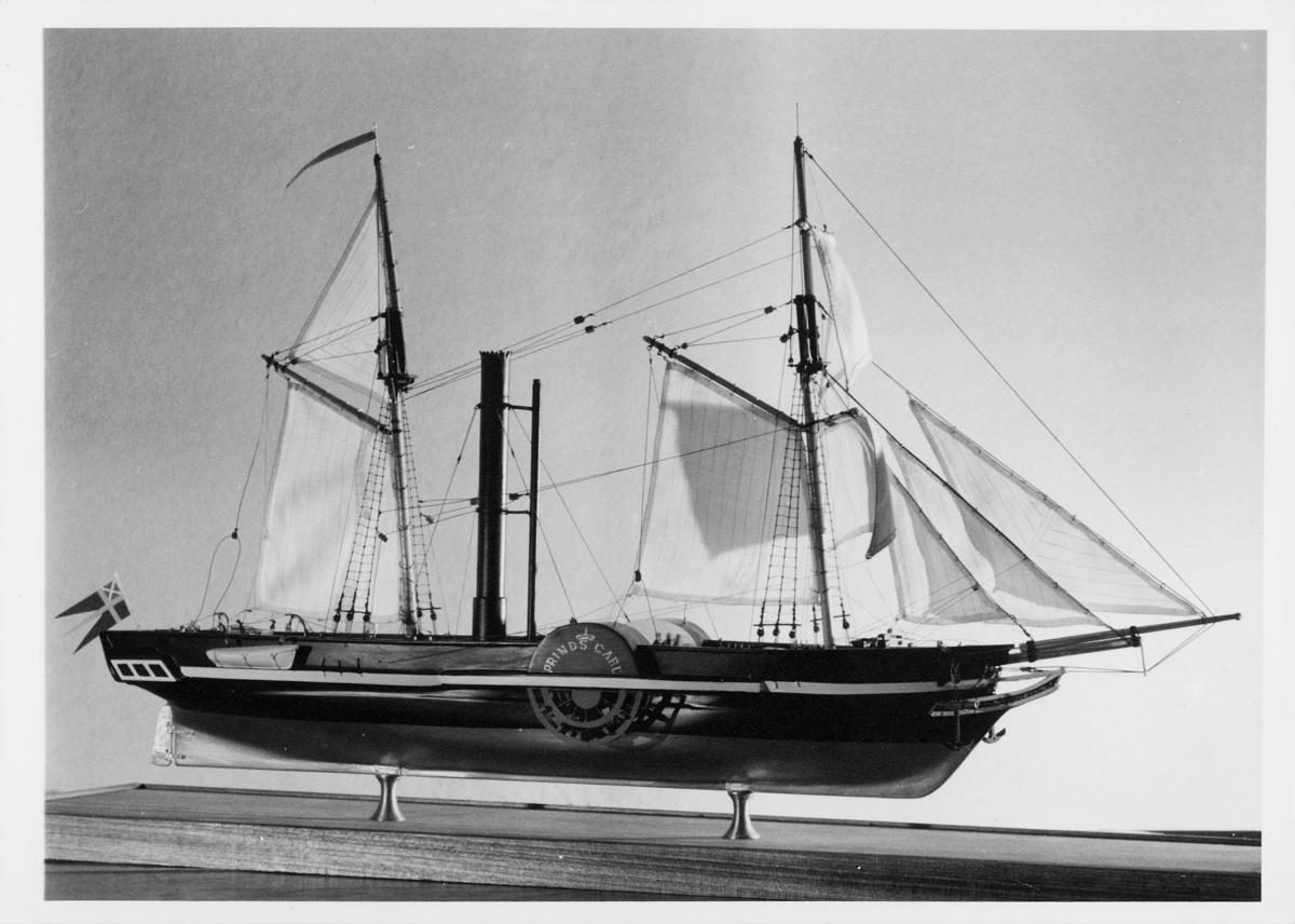 postmuseet, Kirkegata 20, båt, utstillingsmodell, Prinds Carl