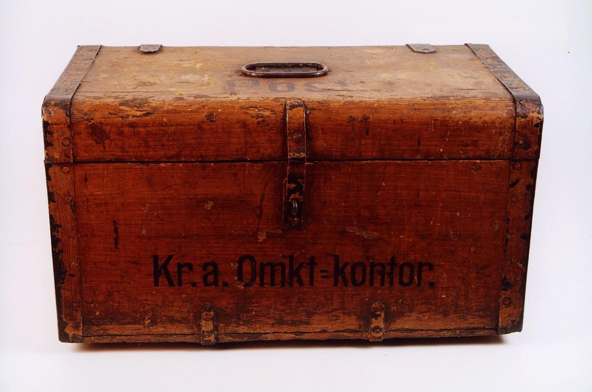 postmuseet, gjenstander, postemballasje, kasse, kiste, arkivkiste, arkivskrin, Kristiania omkarteringskontor