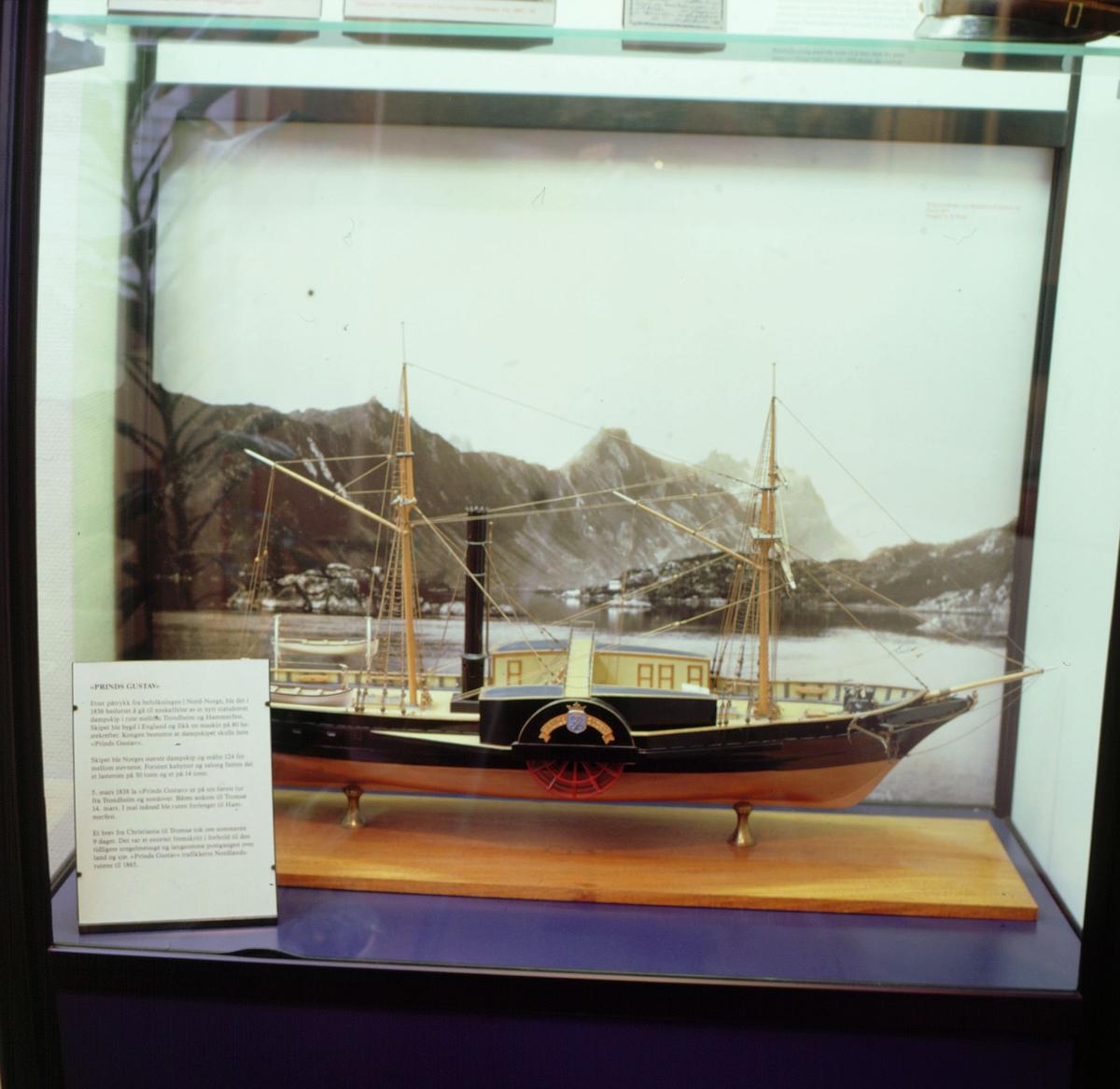 postmuseet, Kirkegata 20, utstilling, båtmodell, Prinds Gustav