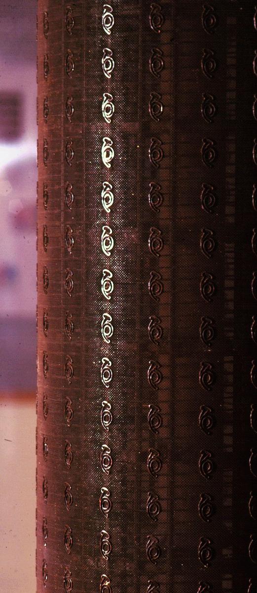 postmuseet, Kirkegata 20, utstilling, vannmerkevalse i monter, detalj