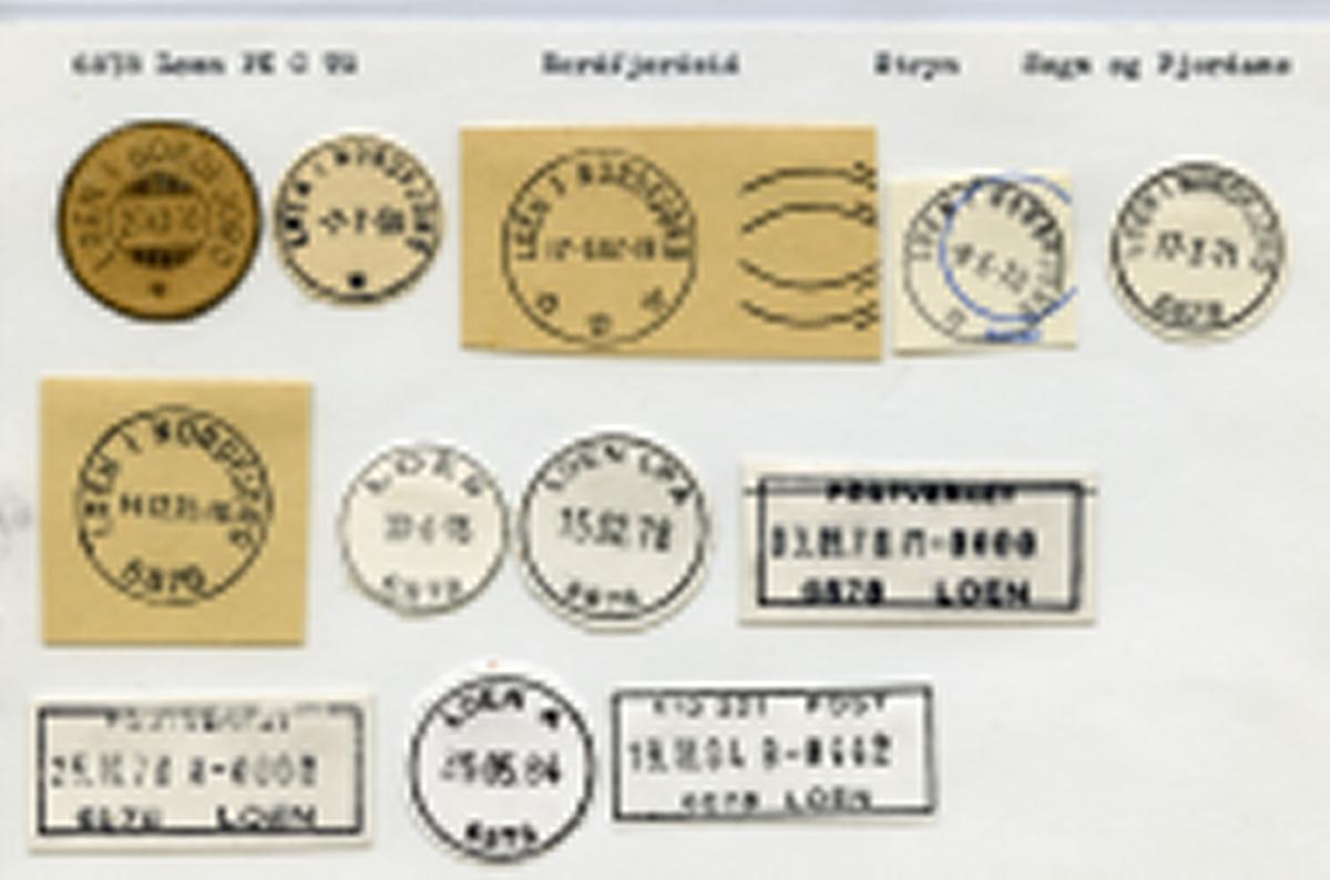 Stempelkatalog, 6878 Loen, Nordfjordeid, Stryn kommune, Sogn og Fjordane