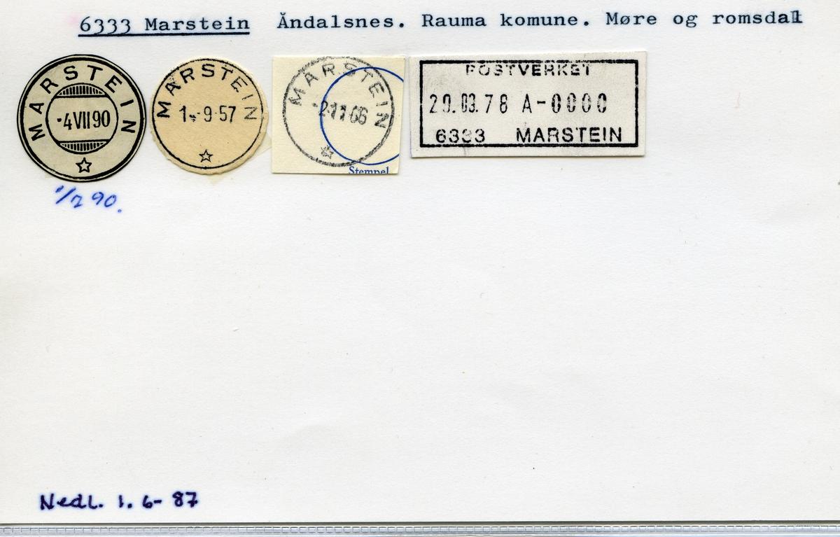 Stempelkatalog, 6333 Marstein, Rauma kommune, Møre og Romsdal