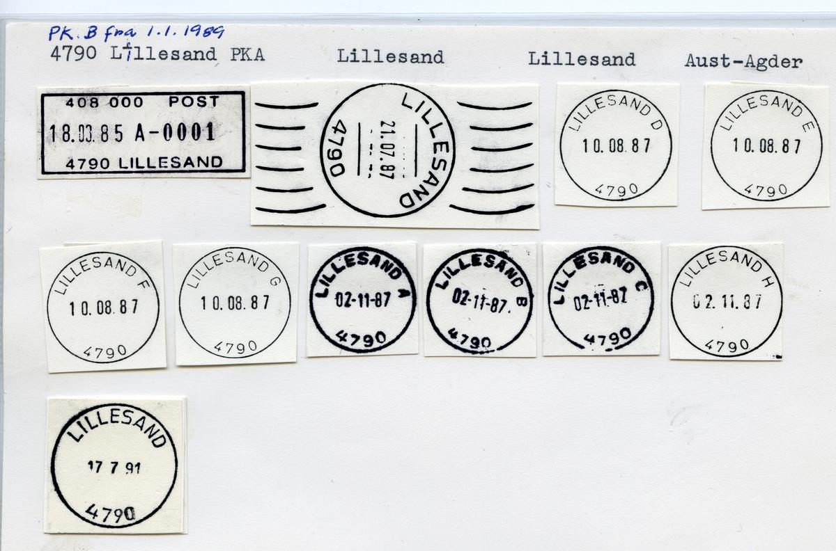 Stempelkatalog 4790 Lillesand, Lillesand, Aust-Agder