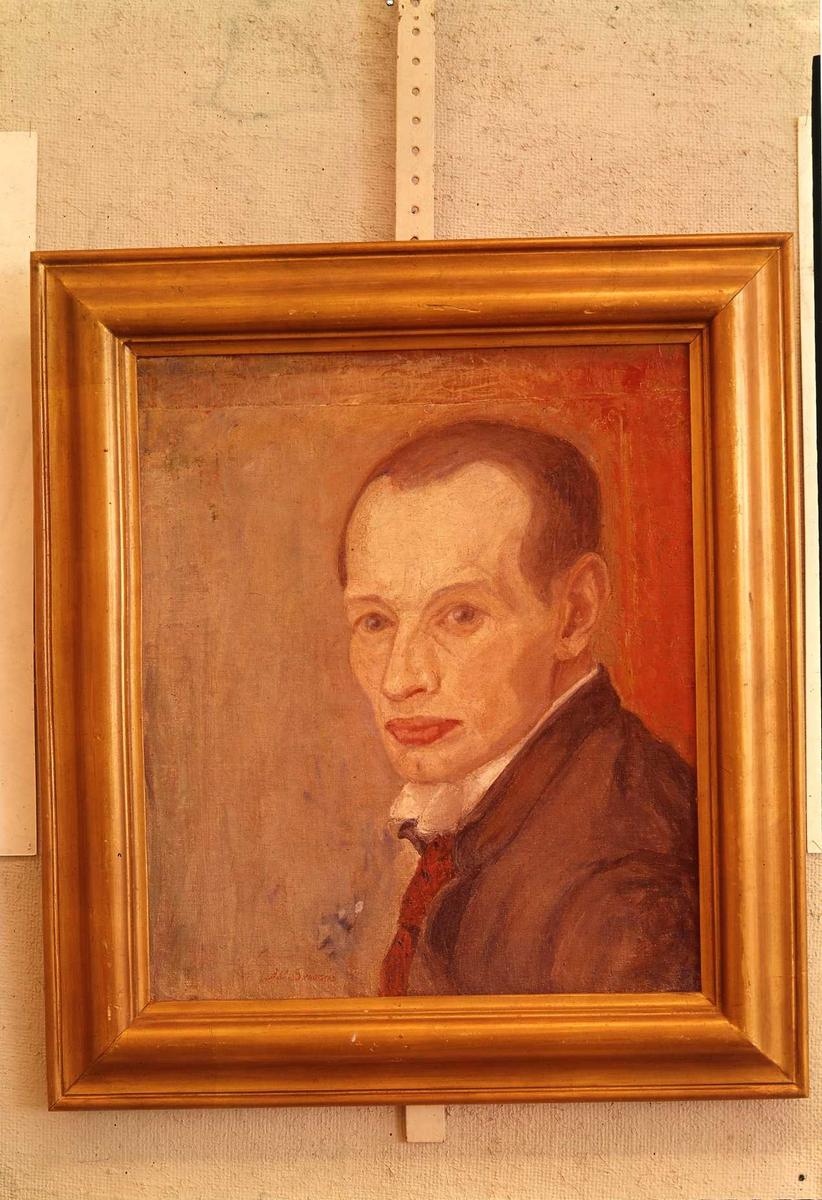 Maleri, mann, selvportrett