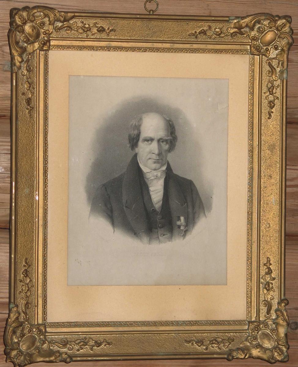 Portrett av mann, Jacob Aall (1773 - 1844) jernverkseier.