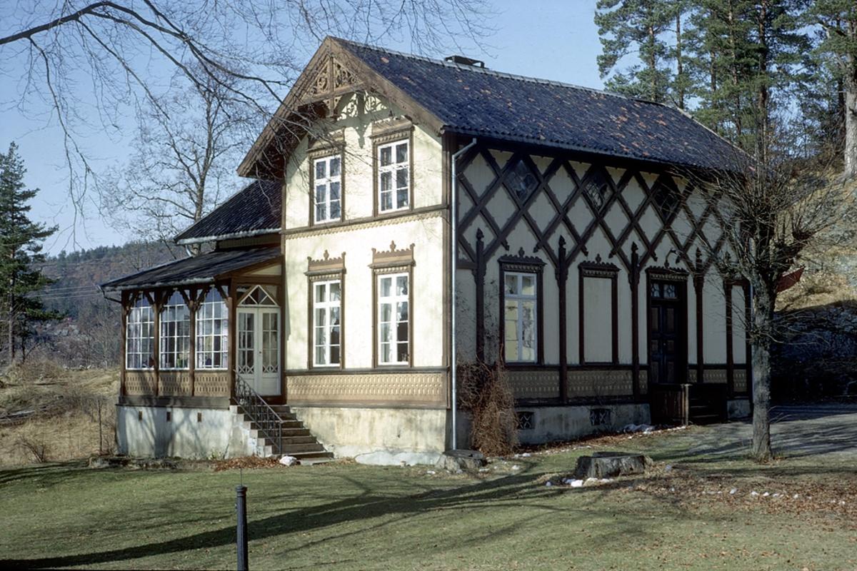 Frednes. Hus i sveitserstil.  Landsted ved Longumvannet.