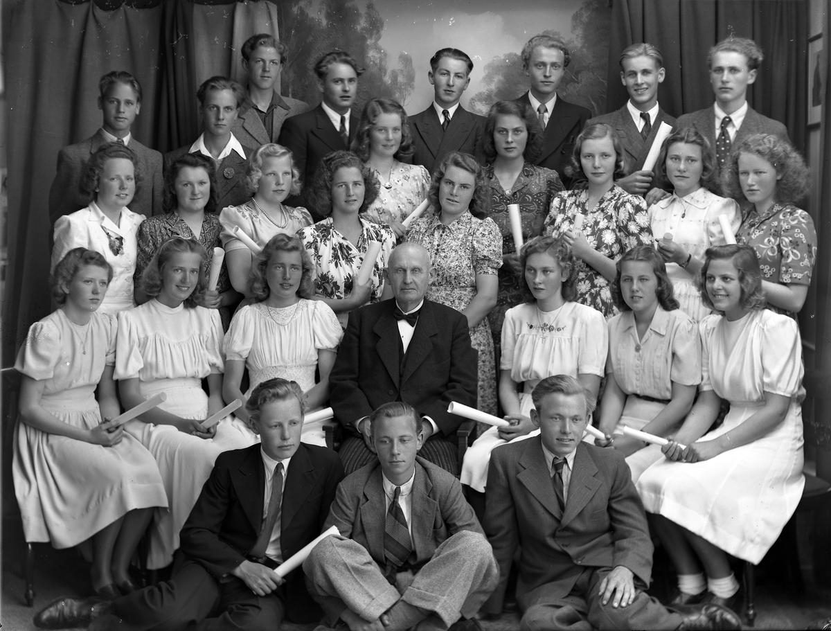 Grimstad middelskole med lærer Terland
