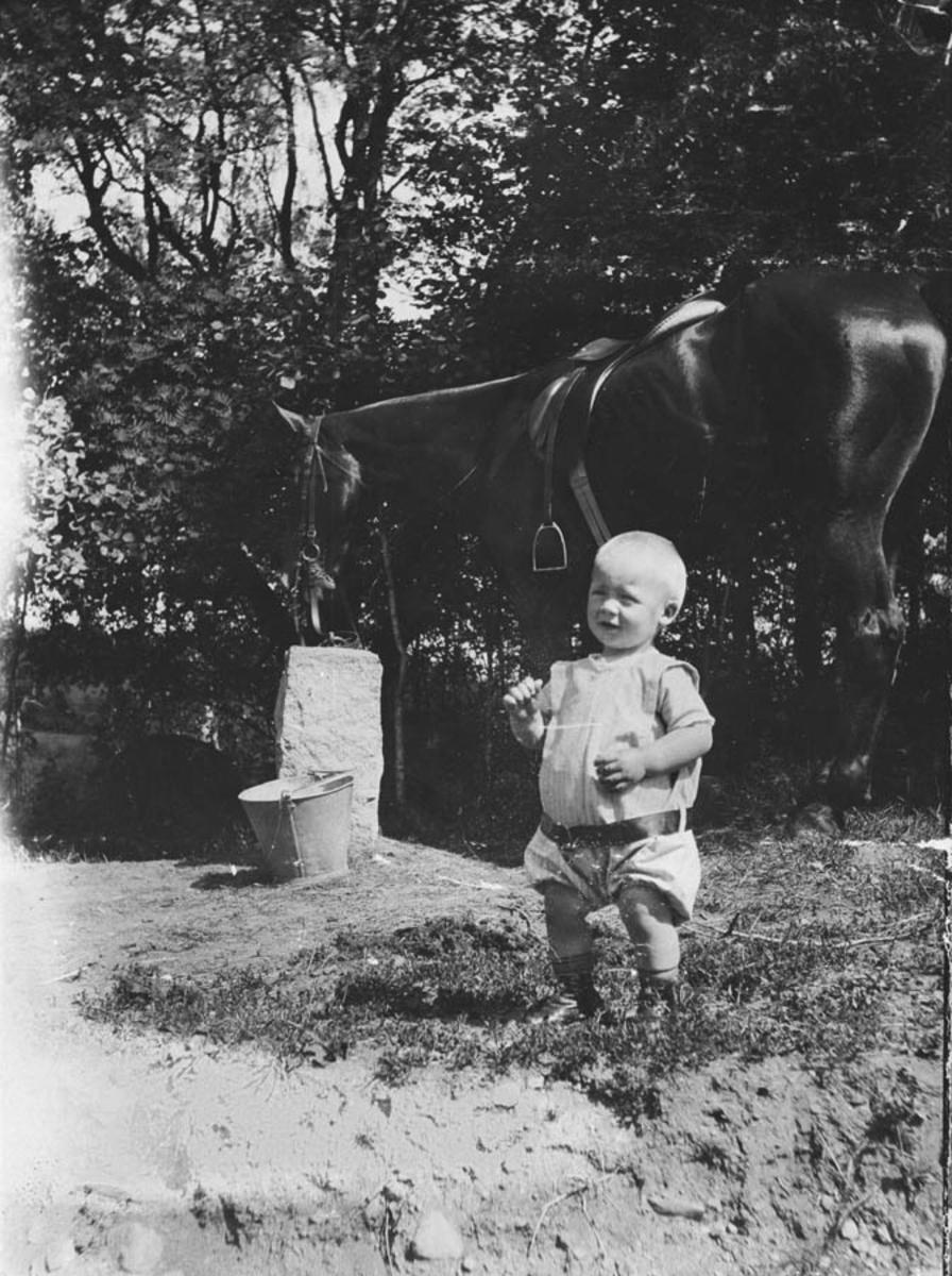Bjørn Thorn Hemsen med hesten Lydia