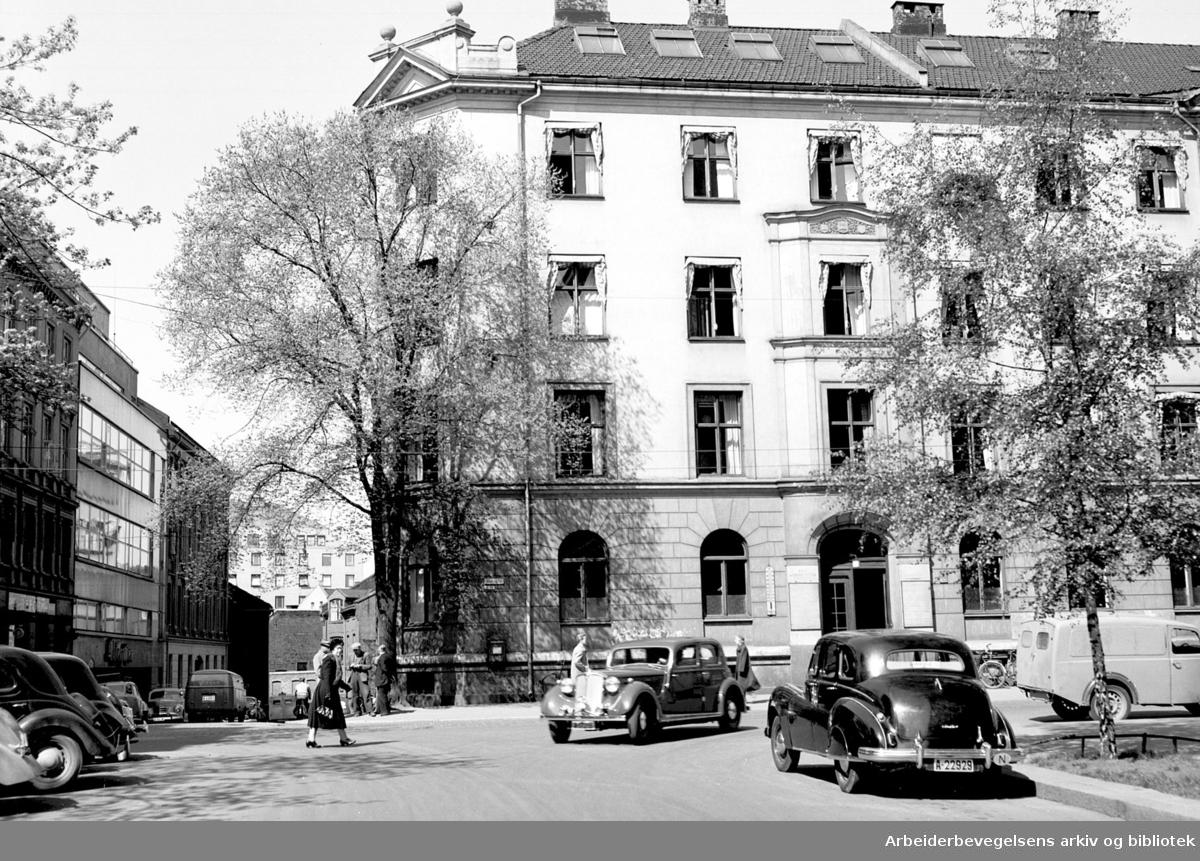 Akersgata 55 (revet),.mai 1953