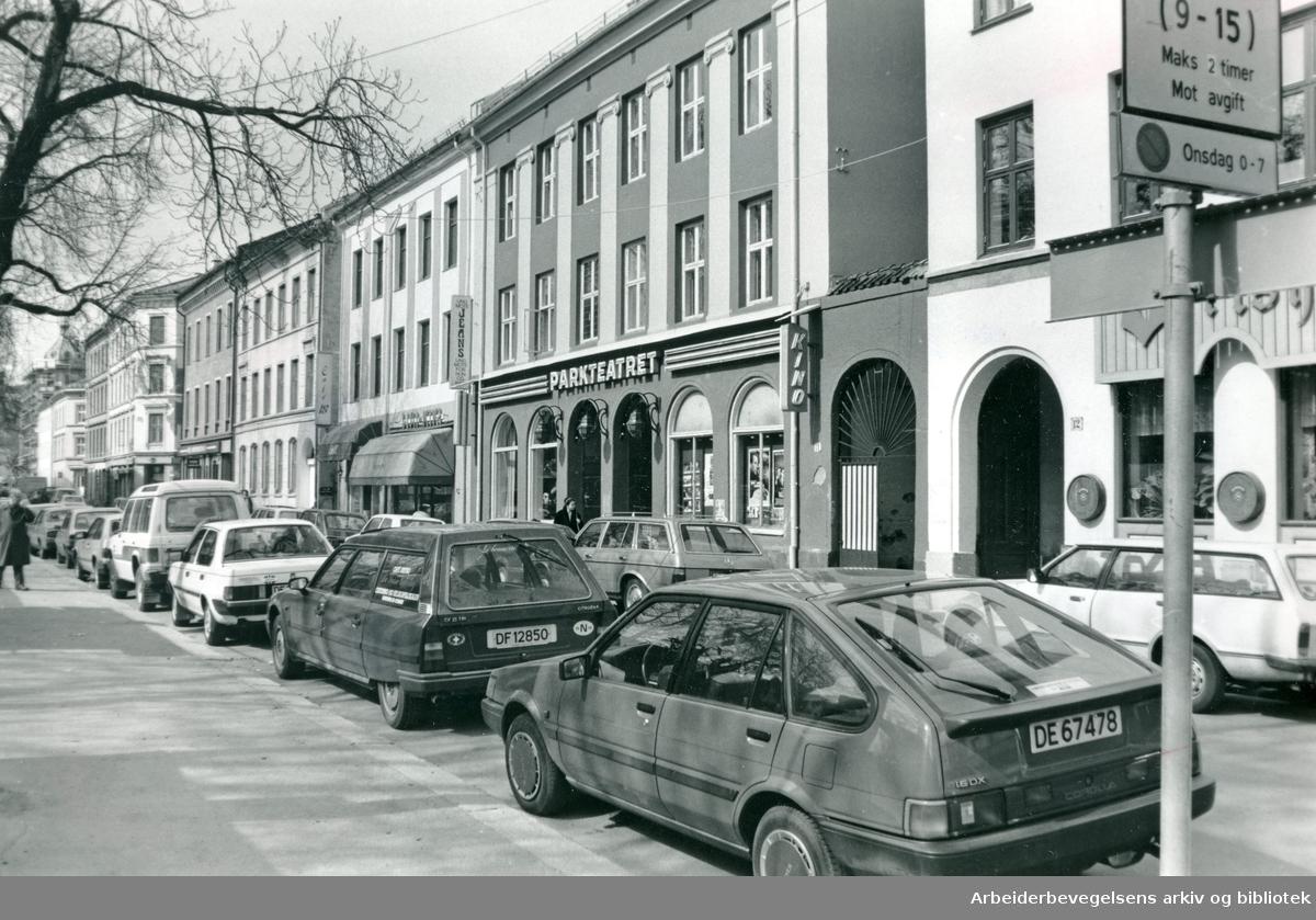 Olaf Ryes plass,.april 1988