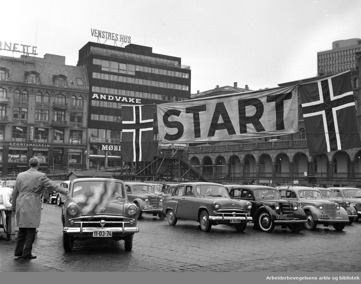 Moskwich-løpet på Youngstorget, november 1958.