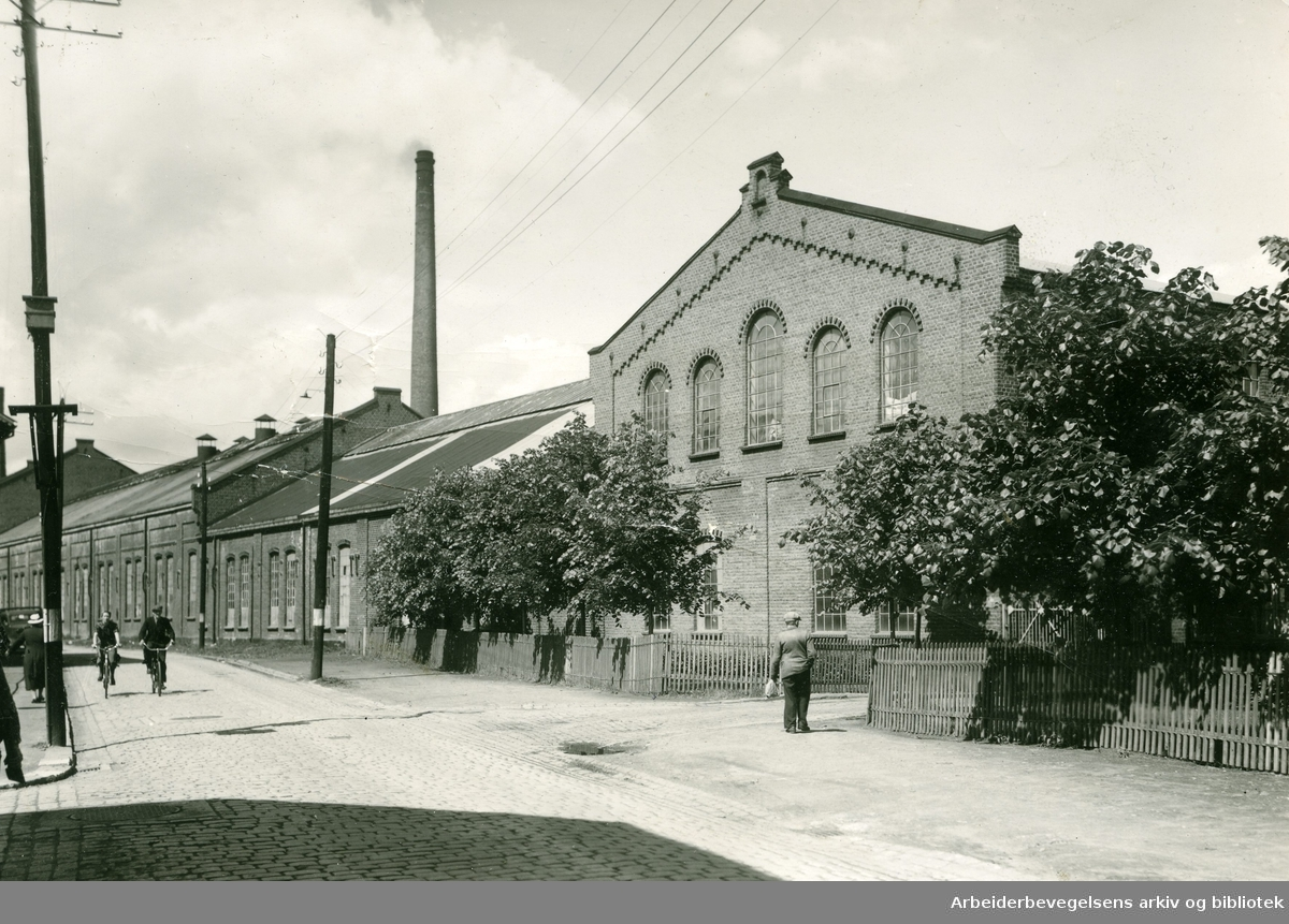Forenede Papirfabrikker A/S i Drammen, juli 1942.
